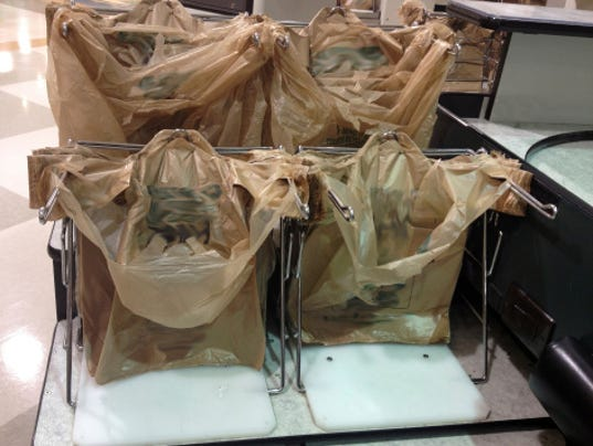 Protecting plastic bags