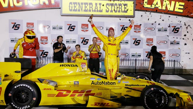 A good example of IndyCar's scheduling to take advantage of broadcast opportunities: Iowa Speedway is known for hosting Saturday night races (Ryan Hunter-Reay won the Saturday, July 18 race this year), but next year's event will be on Sunday, July 10, to avoid a direct TV conflict with NASCAR's Sprint Cup Series race at Kentucky Speedway.