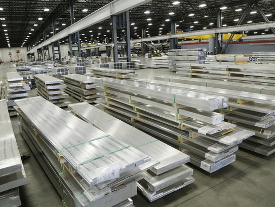 Standard rod and bar aluminum pieces at Nanshan America, 3600 U.S. 52 South in Lafayette. Nanshan America produces aluminum extrusions, casts aluminum billet and constructs various products containing aluminum extrusions.