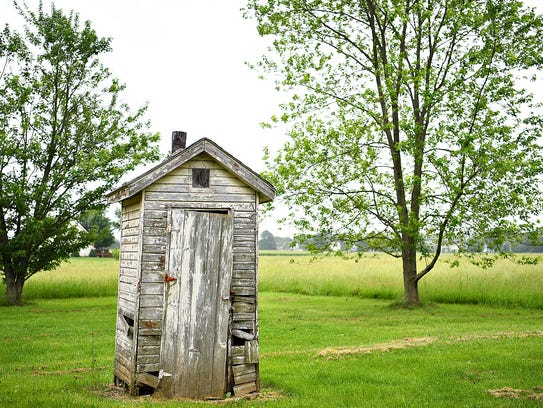 An outhouse near The Little Red Schoolhouse in Conewago