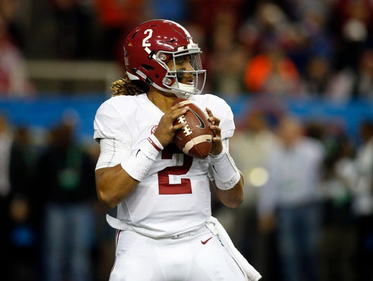 Alabama's offense is led by quarterback Jalen Hurts