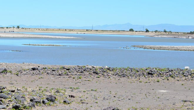 This area on the north side of Lahontan Reservoir is so shallow, similar to other areas near Silver Springs, that it saw no use despite a hot day last Saturday. Fourth of July is usually a busy day at Lahontan State Recreation Area, but the low water levels this year could keep big crowds away.