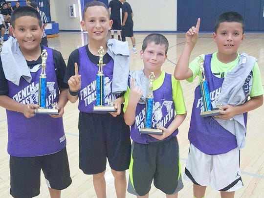 Boys 7-10 Champions: Lil French Toast Mafia, not in order, Chad Aguirre Jr., Jace Jameson, Jake Martinez Jr., and Ezeykeal Holland