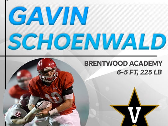 Gavin Schoenwald signs with Vanderbilt