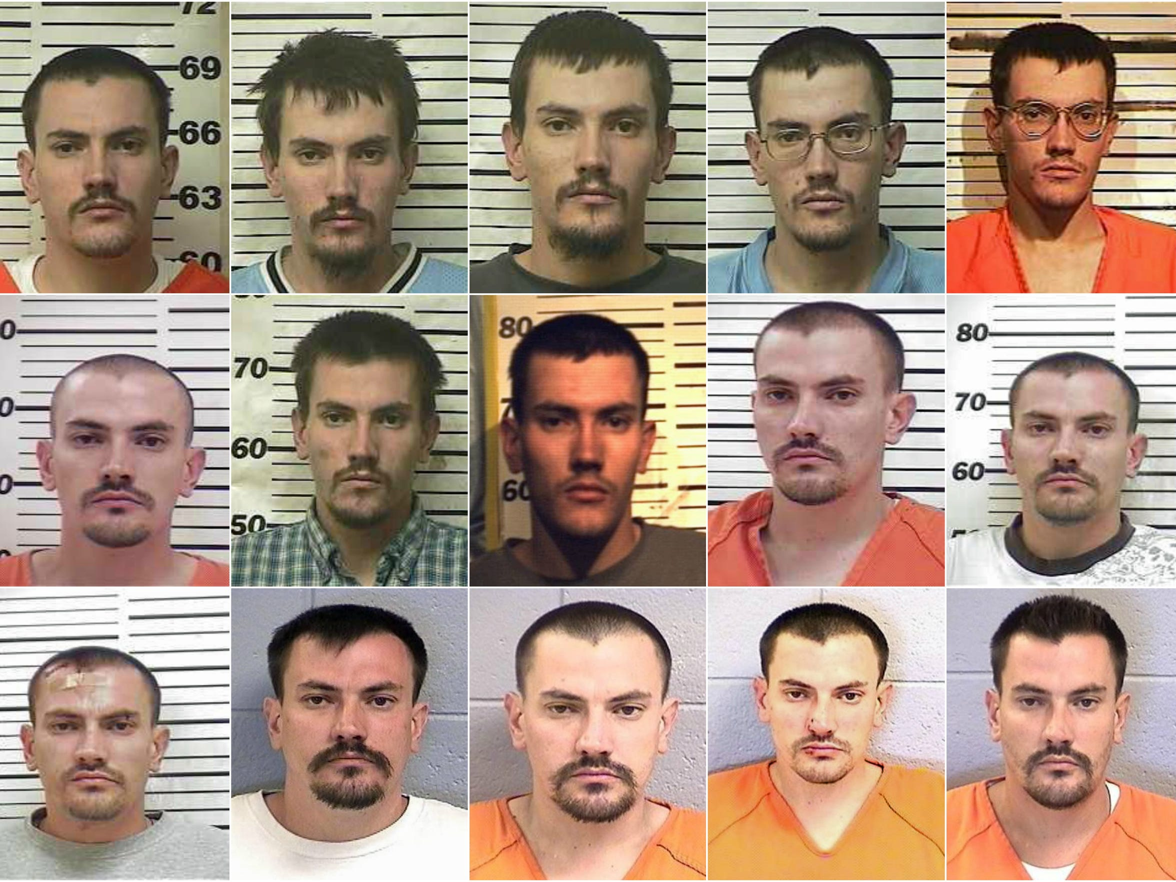 Mugshots provided by the San Juan County Adult Detention Center depict Matthew Harrison's booking photos from 2001 to 2015.