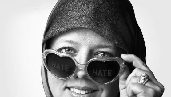 Tara Ijai is a Muslim woman who started wearing heart-shaped glasses as a way reminding herself to see the love, not the hate.