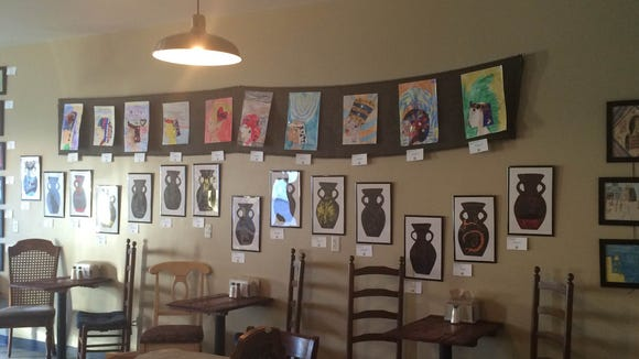 An art show by students from St. Anthony of Padua Catholic School will be on display at Upcountry Provisions through the end of January.