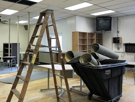 The former Central Middle School library is being remodeled
