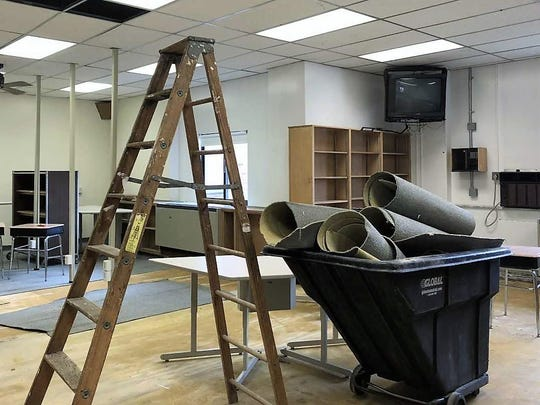 The former Central Middle School library is being remodeled in anticipation of the Friends of the Rouge's arrival Sept. 1.
