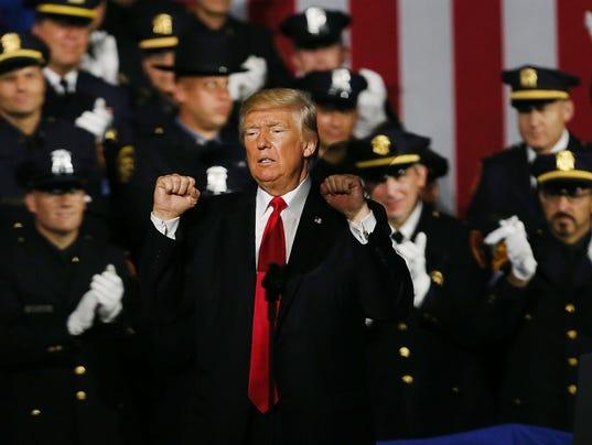 Donald Trump addresses law enforcement