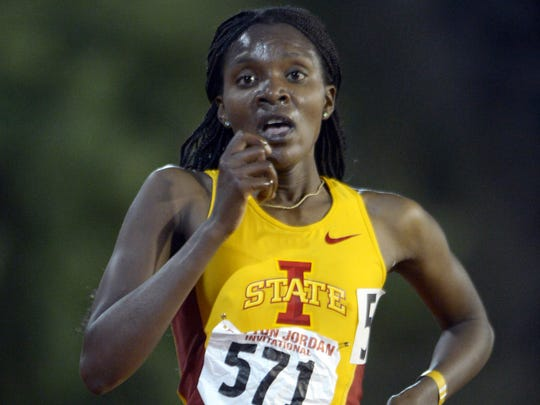 Kenyan Betsy Saina, shown in 2013, won the Falmouth Road Race 7-mile event Sunday in Falmouth, Mass.