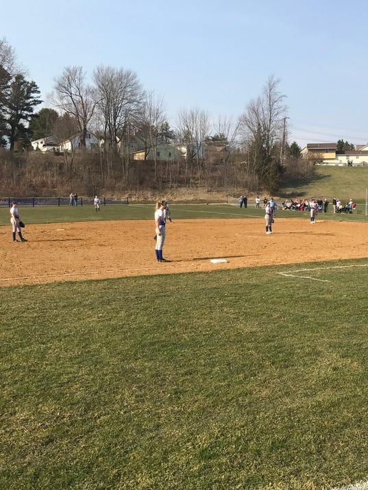 Vestal vs. M-E softball