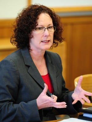 House Majority Leader Val Hoyle, D-Eugene, in January