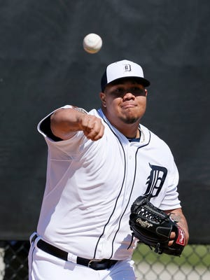 Detroit Tigers pitcher Bruce Rondon is returning this spring after a elbow ligament-replacement surgery last March.