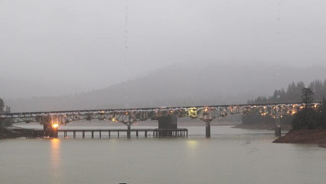 The California Department of Transportation blew up the old Interstate 5 Antlers Bridge Tuesday in Lakehead.