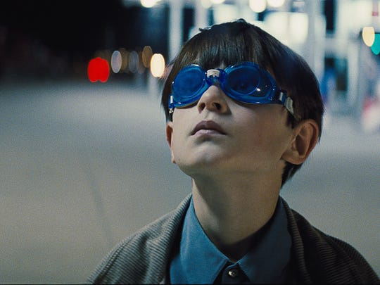"""The blue, tinted swimming goggles that Alton (Jaeden Lieberher) wears were a """"pragmatic"""" choice, director Jeff Nichols says."""