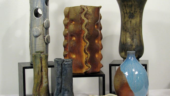 A variety of ceramic vessels will be sold by Eric Wolff.