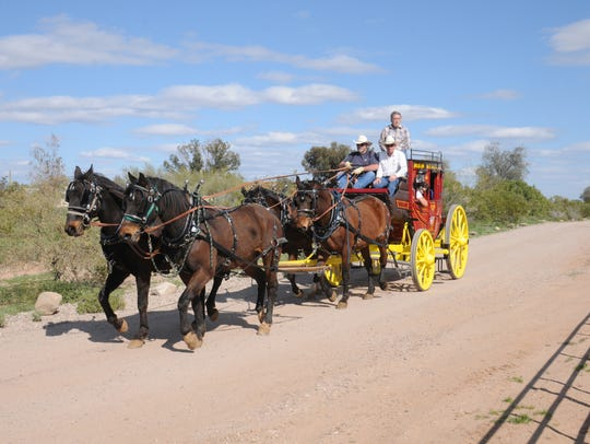 Arizona Carriage Company offers rides in a full sized