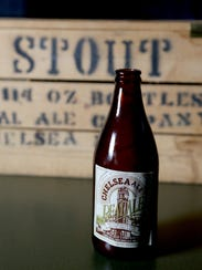 An empty bottle of Chelsea Ale by Real Ale Company,