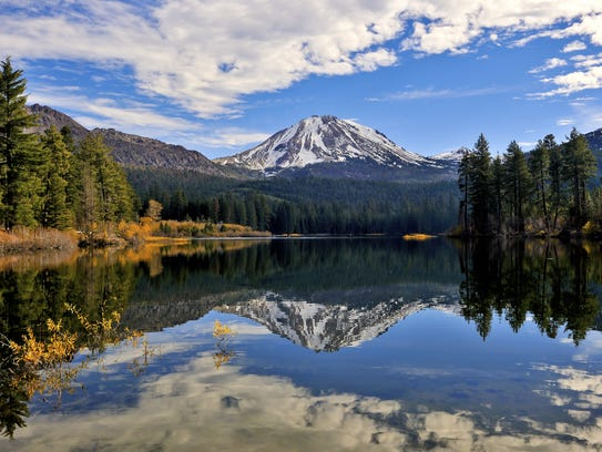 Manzanita Lake and Lassen Peak, Lassen National Park