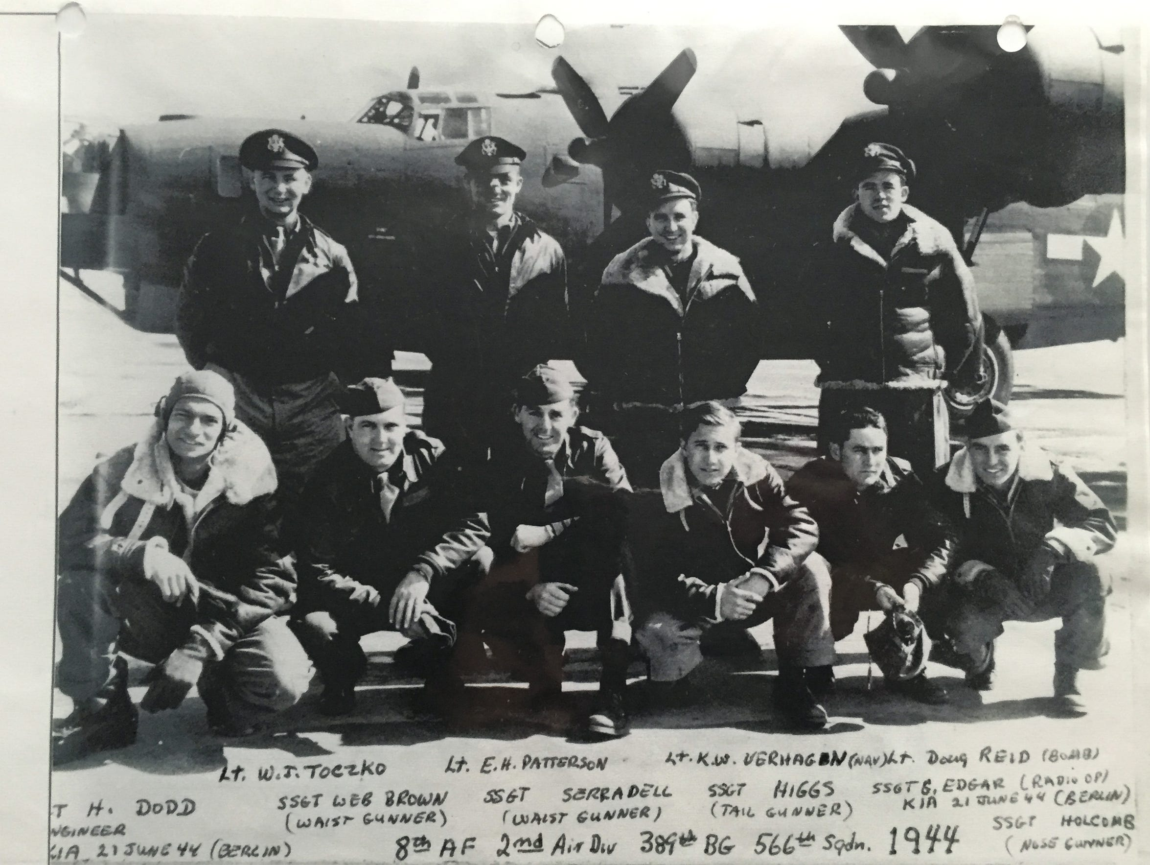 Charles Holcomb, bottom row far right, with his crew