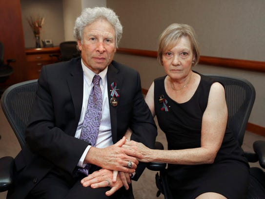 Andy and Barbara Parker of Collinsville, Va., mourn