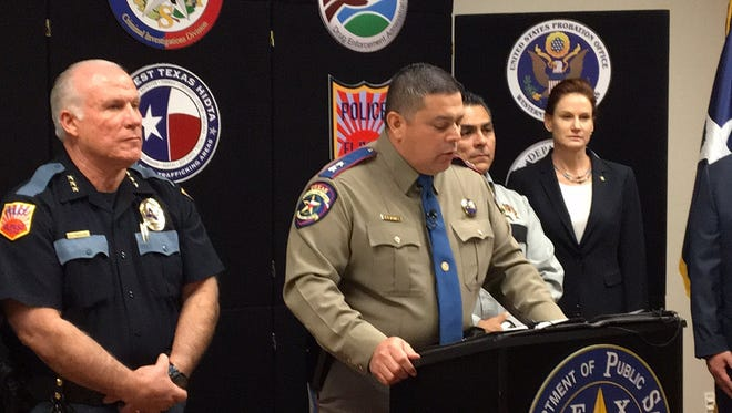 The Texas Department of Public Safety announces 17 arrests Wednesday in a Barrio Azteca gang drug investigation named Operation Heroin Battle.