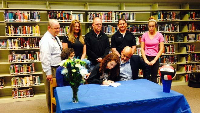 North Buncombe senior Callie Darress has signed to play volleyball for Brevard College.