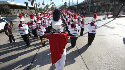 """The """"Spirit of the Sands"""" is the official band of Palm Springs High School."""