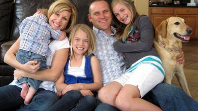Renee and Josh Knox of Gilbert and their children Kylie and Sydnie opened their doors to foster care in 2010.