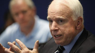 U.S. Senator John McCain discussing a wide range of issues, including the growing crisis in Iraq, with the Arizona Republic editorial board