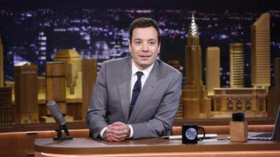 """In this Feb. 17, 2014 file photo provided by NBC, Jimmy Fallon appears during his """"The Tonight Show"""" debut, in New York. Comcast's first-quarter net income rose by nearly a third as ad revenue surged at broadcast network NBC, helped by the Winter Olympics in Sochi and Fallon's elevation as host of """"The Tonight Show."""""""