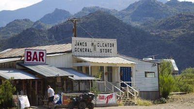 Cleator, a ghost town on the way to Crown King.