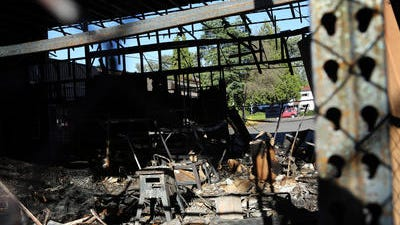 An early-morning fire caused extensive damage at the Mission Store.