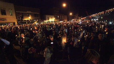 A vigil for Hailey Owens was held on Commercial Street  in February of 2014.