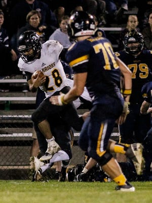 Waverly's Jaden Sutton (28) ranked among the leaders in rushing and receiving during the regular season.