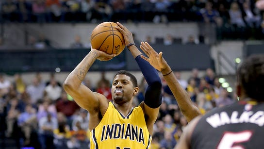 Indiana Pacers forward Paul George (13) attempts a
