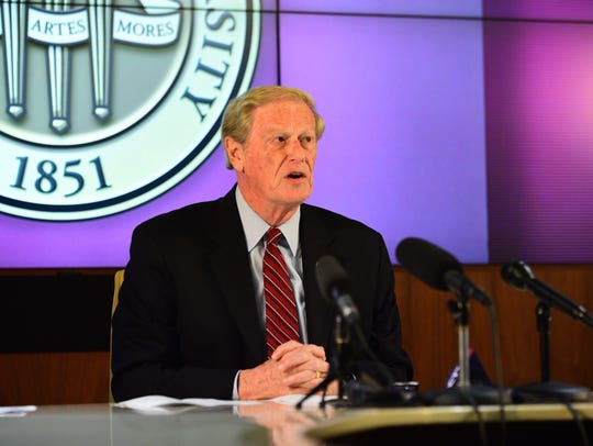 FSU President John Thrasher announces an indefinite