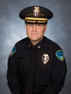 """""""I'm in my 38th year and that's all the training I've been given, is to pull that trigger,"""" said Chief Michael Navarre of Oregon, outside Toledo. Navarre sits on a state task force about relationships between community members and police."""