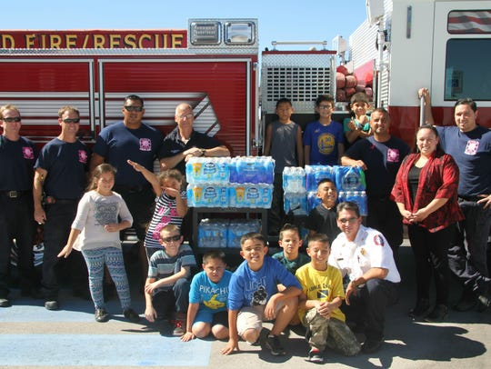Desert Willow students spent two weeks collecting bottles