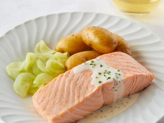 Chairman's Choice salmon is served daily in The Restaurant on Viking Ocean Cruises