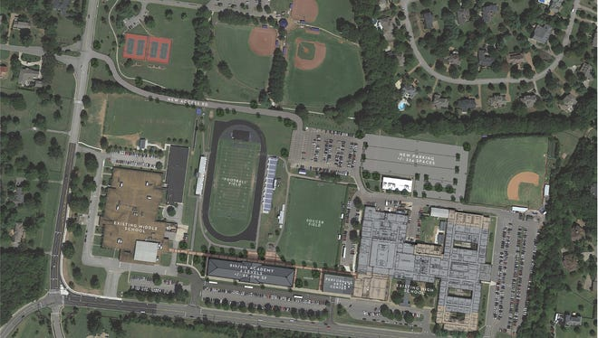 A sales tax increase may help fund debt from new schools and school additions, since as this renovation plan for Brentwood High School.