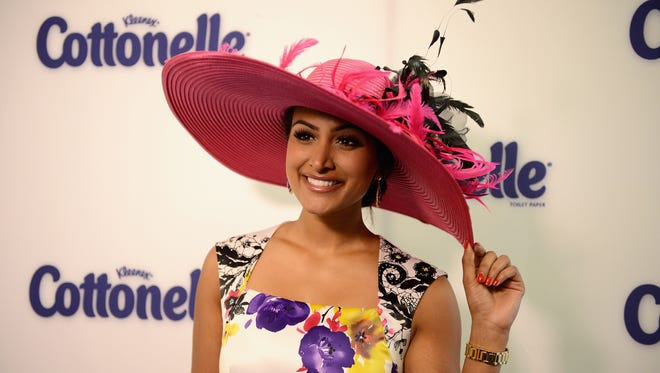 """LOUISVILLE, KY - MAY 03:  Miss America 2014 Nina Davuluri attends Cottonelle Celebrity """"Clean Room"""" at the 140th Kentucky Derby at Churchill Downs on May 3, 2014 in Louisville, Kentucky.  (Photo by Jason Davis/Getty Images for Cottonelle)"""