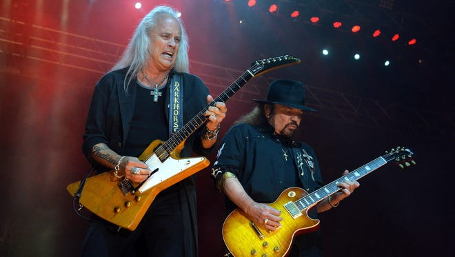 Rickey Medlocke, left, and Gary Rossington will perform with Lynyrd Skynyrd on July 31 at the Indiana State Fairgrounds Coliseum.