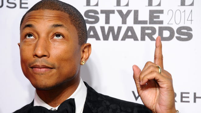Pharrell Williams attends the Elle Style Awards 2014 in London.