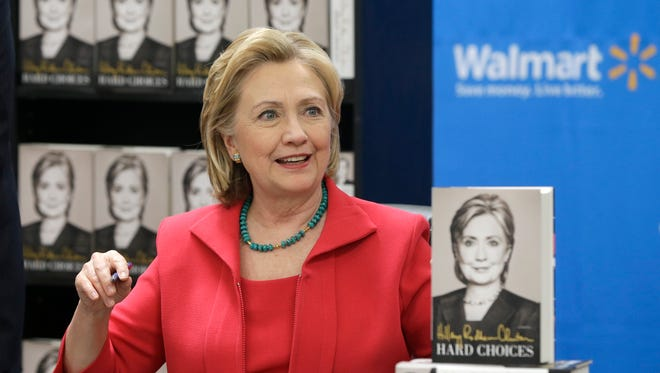 Hillary Clinton stops in Little Rock on her book tour Friday.