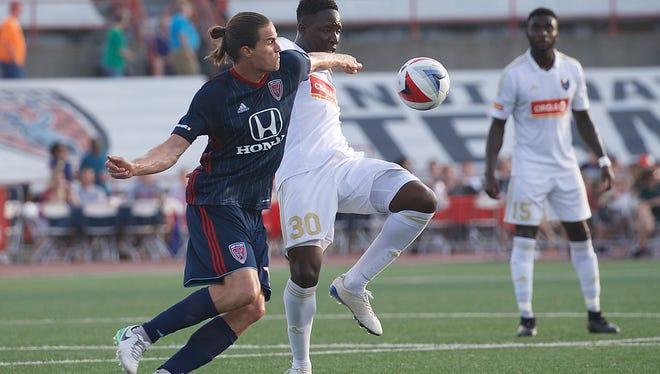 Jun 17, 2017;  Indianapolis, IN USA;  NASL  North Carolina FC at Indy Eleven  -  match held at IUPUI's Michael A. Carroll Stadium.