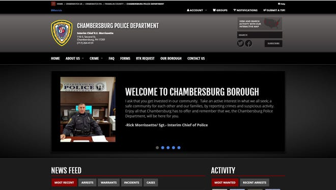 The Chambersburg Police Department has launched its new website that introduces the department to new media.