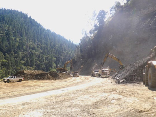 Caltrans has hauled about 750,000 cubic yards of rocks