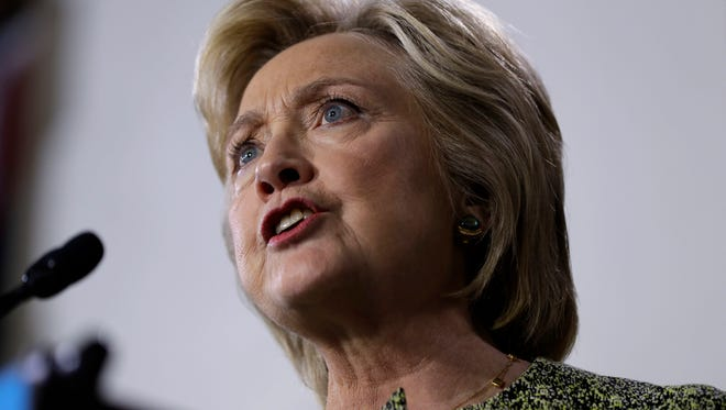 In this Sept. 19, 2016 file photo, Democratic presidential candidate Hillary Clinton speaks in Philadelphia. Struggling to break away from Donald Trump, Clinton is sticking to her conventional playbook against her unconventional opponent: loading up on TV ads, focusing on getting out the vote and preparing for next week's debate.